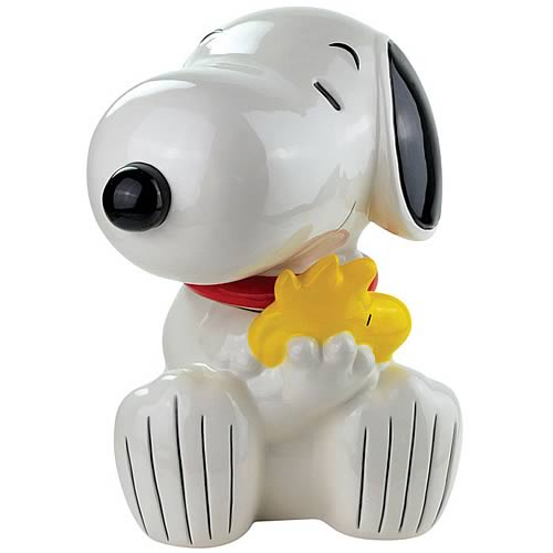 Peanuts Snoopy Hugging Woodstock Cookie Jar