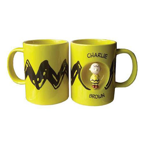 Peanuts Charlie Brown 12 oz. Yellow Ceramic Spinner Mug