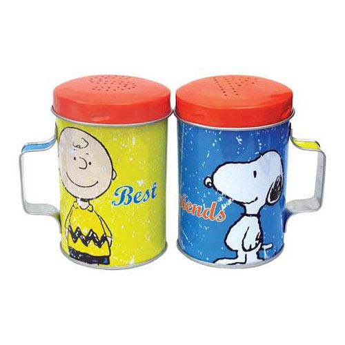 Peanuts Best Friends Tin Salt and Pepper Shakers
