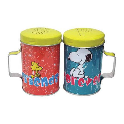 Peanuts Friends Forever Tin Salt and Pepper Shakers