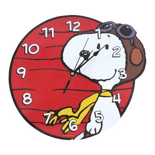 Peanuts Snoopy Flying Ace Wall Clock