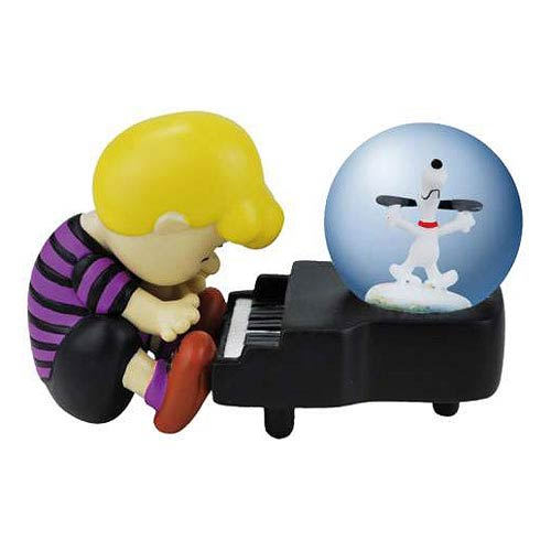Peanuts Schroeder and Snoopy Piano Dance Water Globe