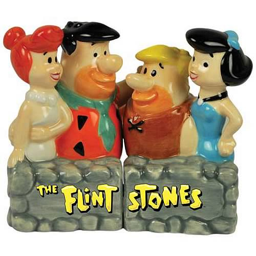 The Flintstones and Rubbles Salt and Pepper Shaker Set