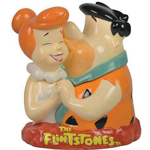 The Flintstones Fred and Wilma Cookie Jar