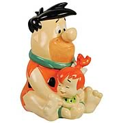 The Flintstones Fred and Pebbles Cookie Jar
