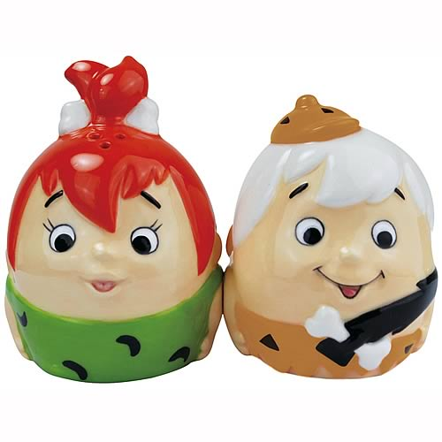 Flintstones Pebbles & Bamm-Bamm Egg Salt & Pepper Shakers