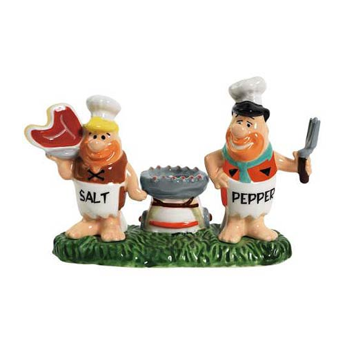 Flintstones Chefs Fred and Barney Salt and Pepper Shakers