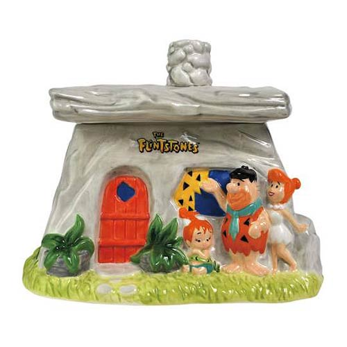The Flintstones Family House Cookie Jar
