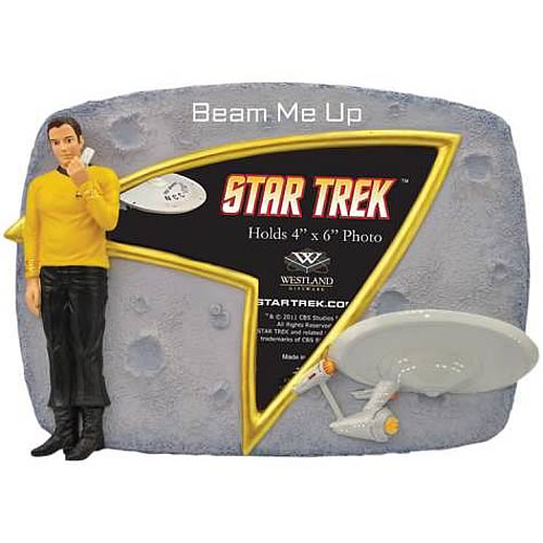 Star Trek Captain Kirk Beam Me Up Picture Frame