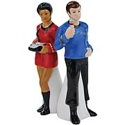 Star Trek Uhura and Dr. McCoy Salt and Pepper Shakers