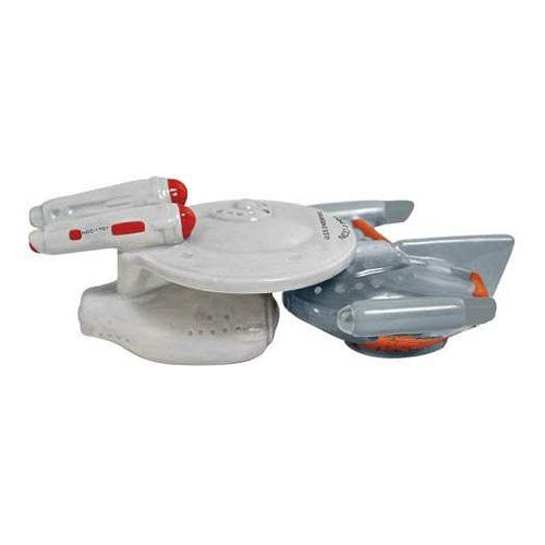 Star Trek TOS Enterprise and Romulan Salt and Pepper Shakers