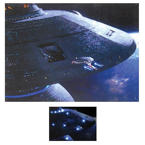 Star Trek TNG Starbase 74 Light-Up Canvas Print