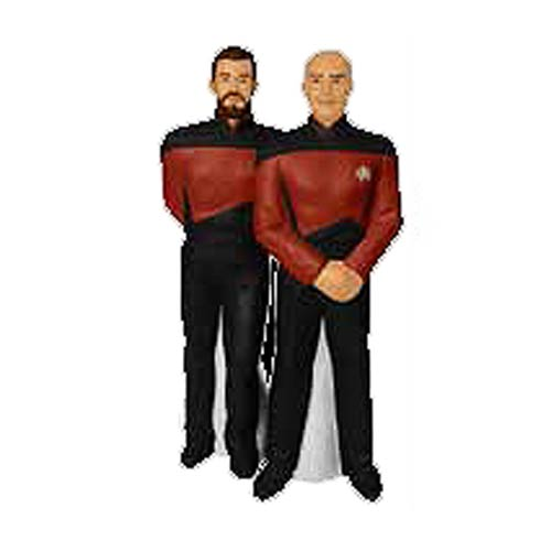 Star Trek Captain Picard and Riker Salt and Pepper Shakers