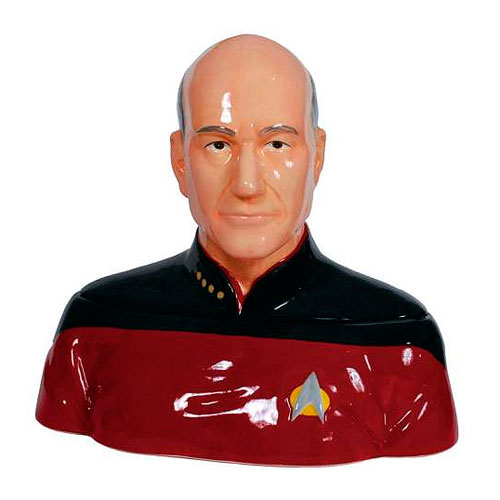 Star Trek TNG Captain Picard Ceramic Cookie Jar