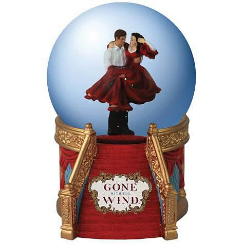 Gone with the Wind Rhett and Scarlett Staircase Water Globe