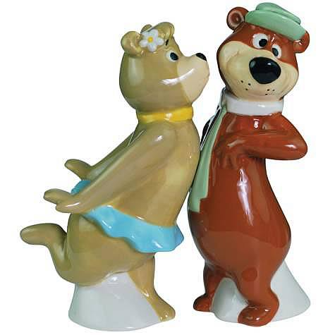Yogi Bear and Cindy Salt and Pepper Shaker Set