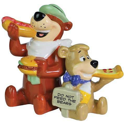 Yogi Bear and Boo-Boo Eating Salt and Pepper Shaker Set