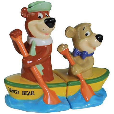 Yogi Bear and Boo-Boo Canoe Salt and Pepper Shaker Set