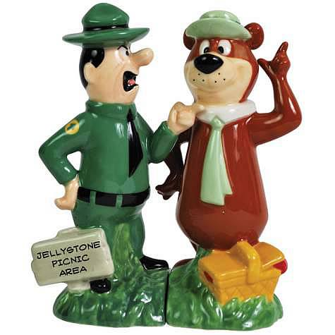 Yogi Bear and Ranger Smith Salt and Pepper Shaker Set