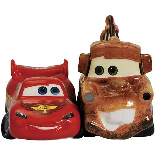 Cars Lightning McQueen and Mater Salt and Pepper Shakers