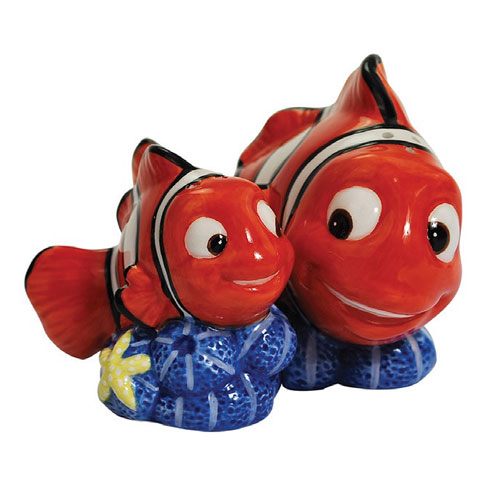 Finding Nemo Marlin and Nemo Salt and Pepper Shakers