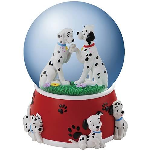 101 Dalmatians Dalmatians in Love Musical Water Globe