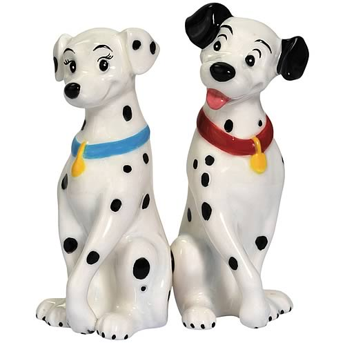 101 Dalmatians Dalmatians in Love Salt and Pepper Shakers