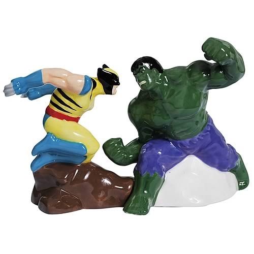 Marvel Incredible Hulk vs. Wolverine Salt and Pepper