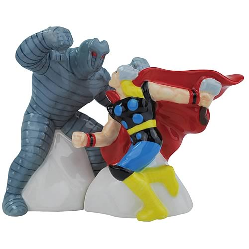Mighty Thor vs. Destroyer Salt and Pepper Shakers