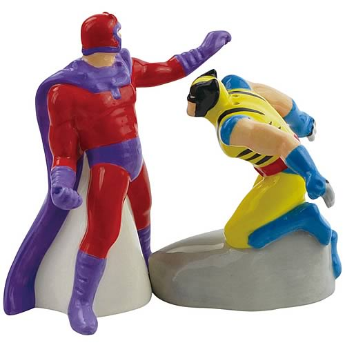 Wolverine vs. Magneto Salt and Pepper Shakers