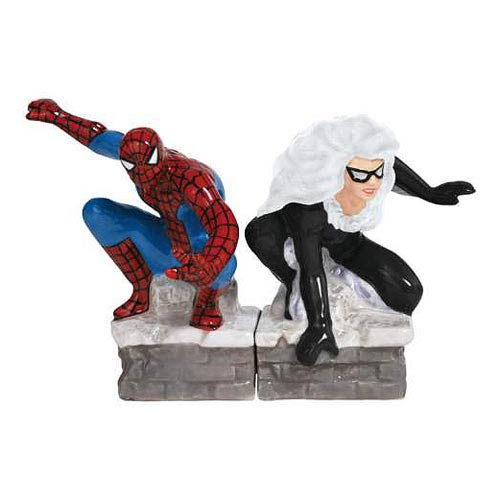 Spider-Man and Black Cat Salt and Pepper Shakers