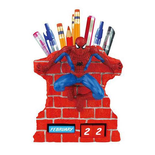 Spider-Man Wall Time Perpetual Calendar and Pencil Holder