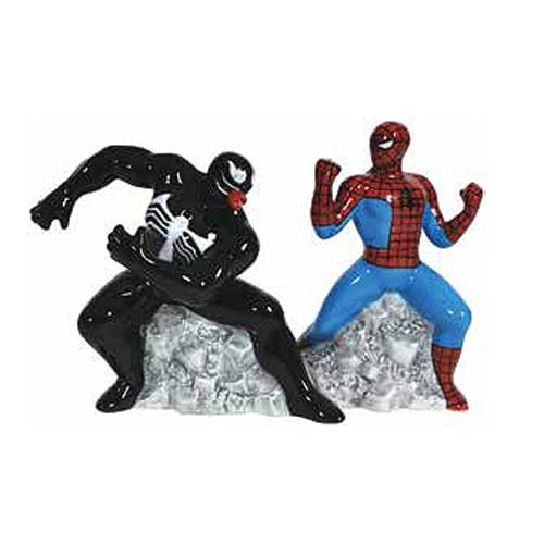 Spider-Man vs. Venom Salt and Pepper Shaker Set