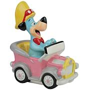 Huckleberry Hound in Car Salt and Pepper Shakers