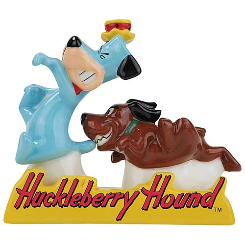 Huckleberry Hound and Dog Salt and Pepper Shakers