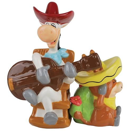 Quick Draw McGraw and Baba Looey Salt and Pepper Shakers