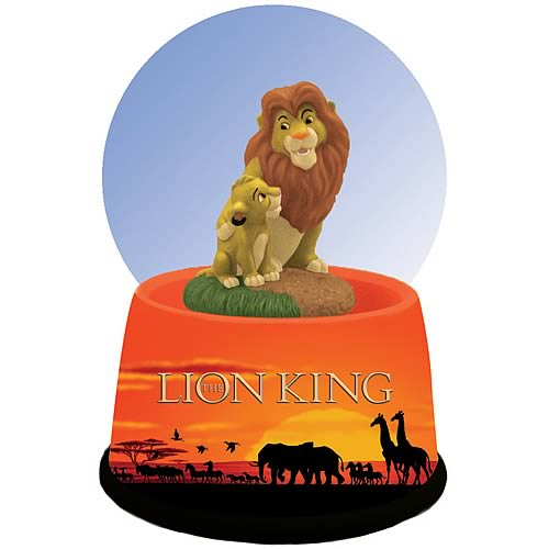 Lion King Mufasa and Simba Water Globe