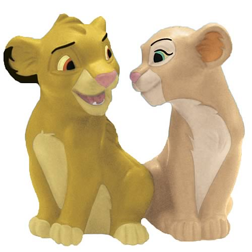 Lion King Simba and Nala Salt and Pepper Shakers