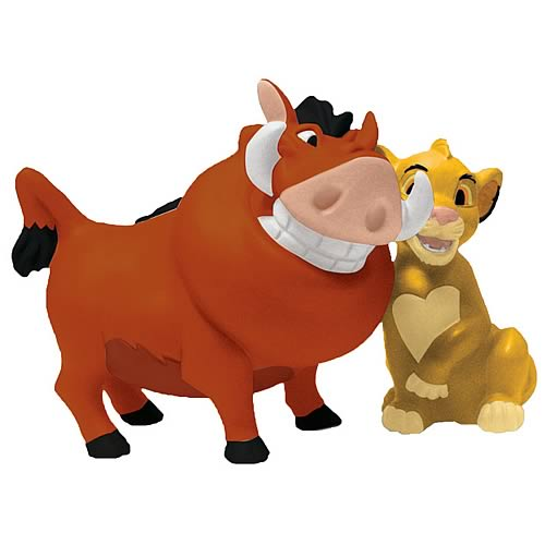 Lion King Pumbaa and Simba Salt and Pepper Shakers