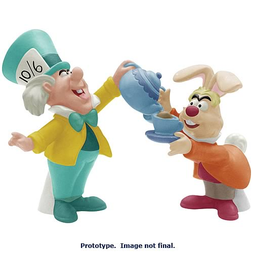 Alice in Wonderland Mad Hatter & March Hare Salt Pepper Set