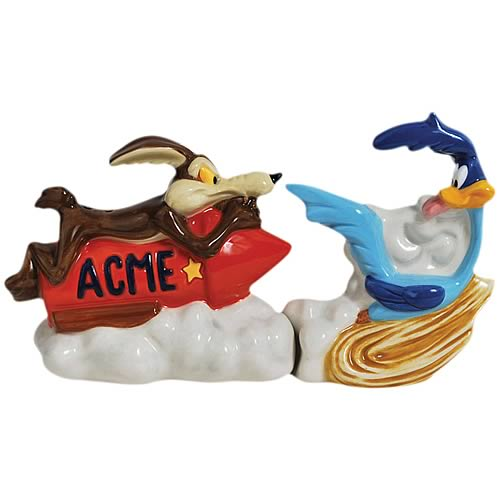 Looney Tunes Coyote and Road Runner Salt and Pepper Shakers