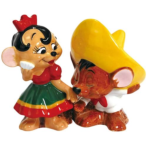 Looney Tunes Speedy Gonzales Senorita Mouse Salt Pepper Set
