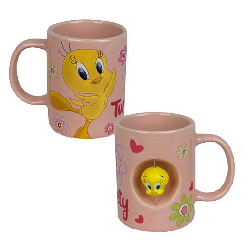 Looney Tunes Tweety Bird Spinner 12 oz. Ceramic Mug