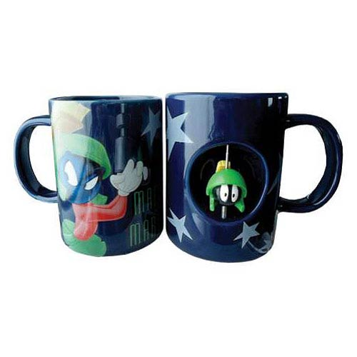 Looney Tunes Marvin the Martian 12 oz. Ceramic Spinner Mug