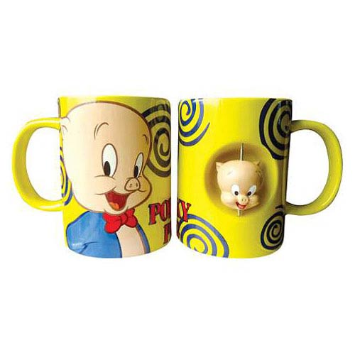 Looney Tunes Porky Pig 12 oz. Ceramic Spinner Mug