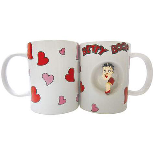 Betty Boop Hearts Spinner 12 oz. Ceramic Mug
