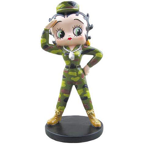 Betty Boop Army Betty Mini Statue
