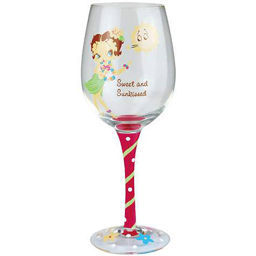 Betty Boop Sweet and Sunkissed Wine Glass