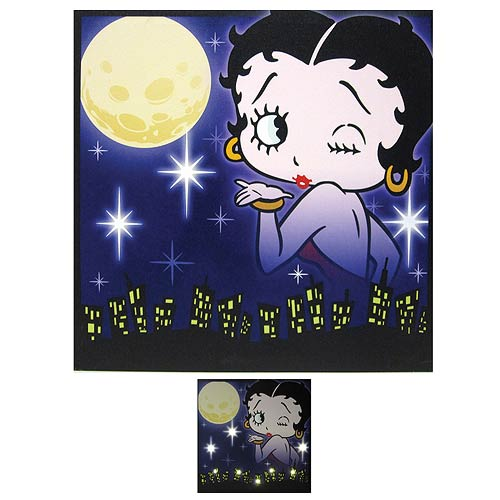 Betty Boop City Lights Betty Light-Up Canvas Print