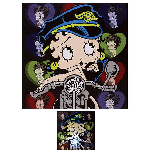 Betty Boop Biker Betty Light-Up Canvas Print